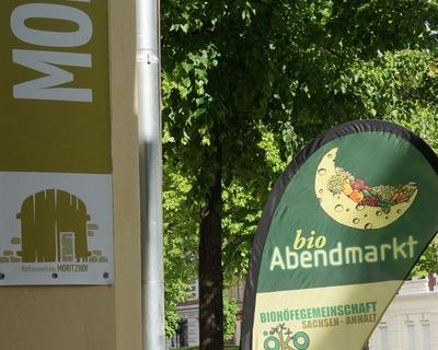 Bio-Abendmarkt in Magdeburg - Öko grillt alles